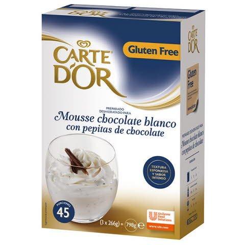 Mousse Chocolate Blanco con Pepitas Carte d'Or 45 raciones Sin Gluten