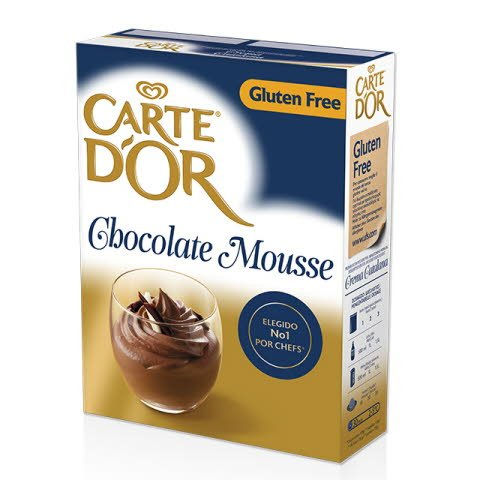 Mousse Chocolate Carte d'Or Sin Gluten 45 raciones