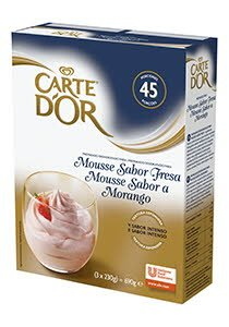 Mousse sabor Fresa Carte d'Or 45 raciones -