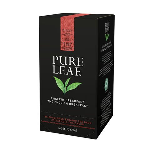 Pure Leaf English Breakfast 6x65g, Caja de 25 sobres
