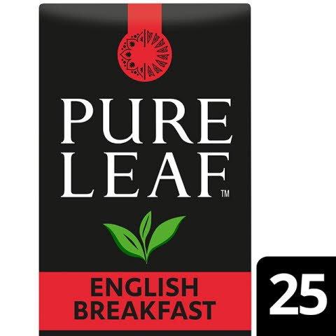 Pure Leaf English Breakfast 6x65g, Caja de 25 sobres -
