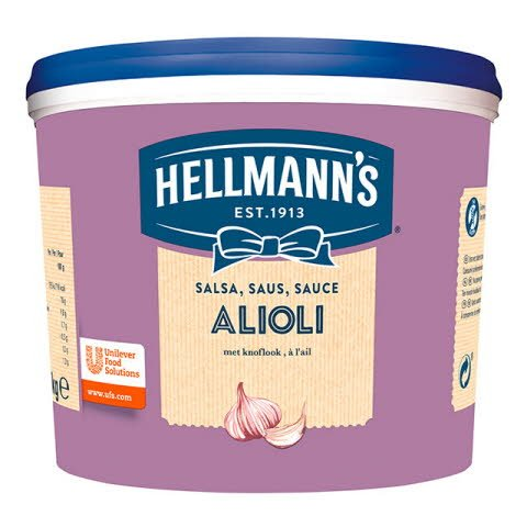 Salsa Alioli Hellmann's cubo 3L Sin Gluten -
