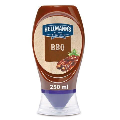 Salsa Barbacoa Hellmann's bocabajo 250ml -