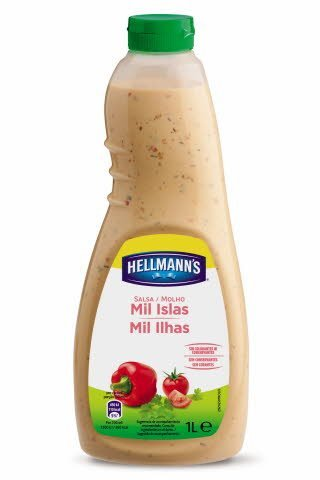 Salsa para ensalada Hellmann's Mil islas botella 1L