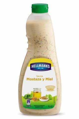 Salsa para ensalada Hellmann's Mostaza y miel botella 1L
