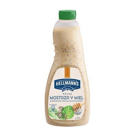 Salsa para ensalada Hellmann's Mostaza y miel botella 1L -