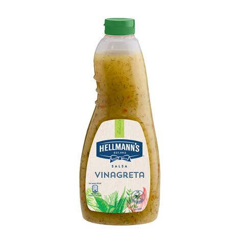 Salsa para ensalada Hellmann's Vinagreta botella 1L