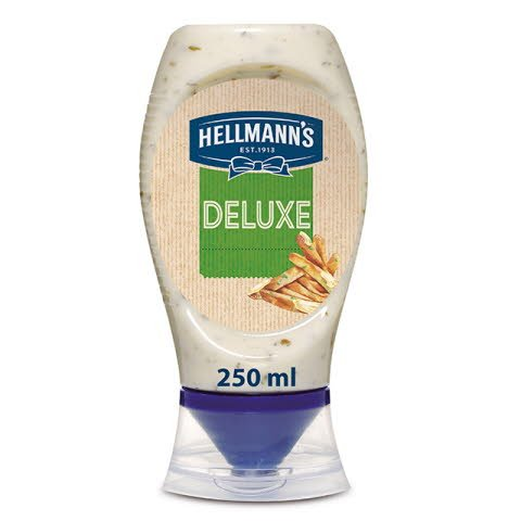 Salsa Patatas Deluxe Hellmann's bocabajo 250ml Sin Gluten
