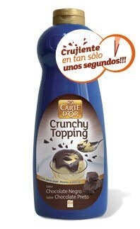 Sirope Crujiente Chocolate Negro Carte d'Or botella 1Kg