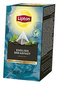 Té Negro Lipton English Breakfast, Caja con 25 sobres