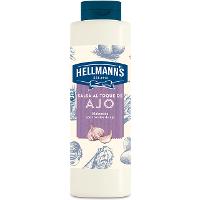 Salsa al toque de Ajo Hellmann's botella 850ML Sin Gluten