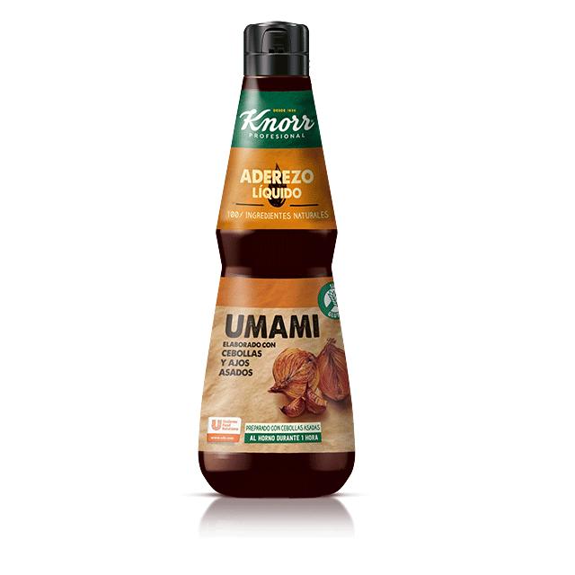 Aderezo Líquido Umami Knorr 400ml Sin Gluten - Ingredientes naturales y sabores intensos...al alcance de tu mano.
