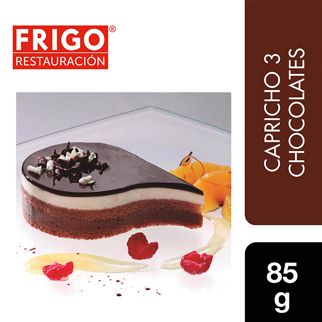 Capricho 3 Chocolates Frigo Restauración 85gr - Las tartas y bizcochos de Frigo Restauración están preparadas tal y como tú las harías