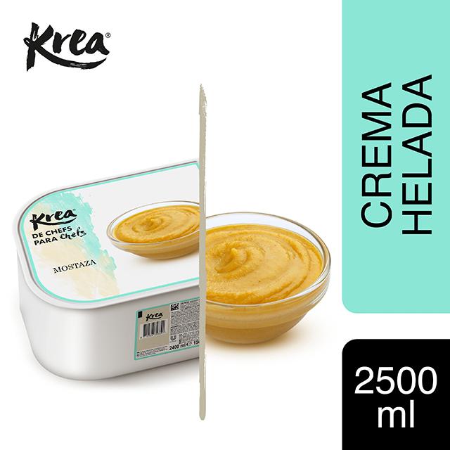 Crema Helada de Mostaza Krea 2,5L - La gama de helados Krea, exclusiva de restauración, te ofrece sabores sorprendentes para crear platos originales