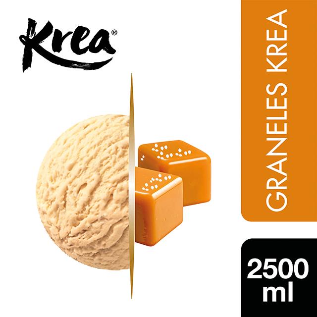 Helado de Caramelo Salado Krea 2,5L - La gama de Helados KREA, exclusiva de Restauración, te ofrece sabores sorprendentes para crear platos originales.