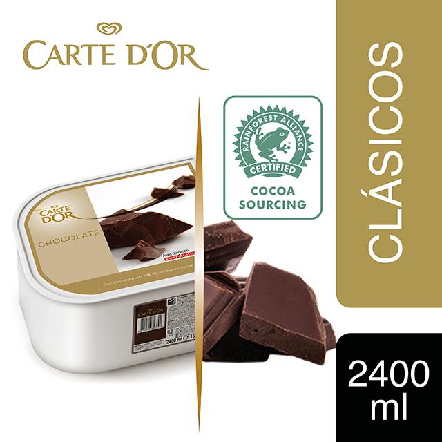Helado de Chocolate Negro con cacao de Ecuador Carte d'Or 2,4L - Incluir un buen helado transforma el postre en una experiencia inolvidable. La gama Carte d'Or está diseñada para aportar versatilidad, conveniencia y estructura a tus postres, controlando tu rentabilidad