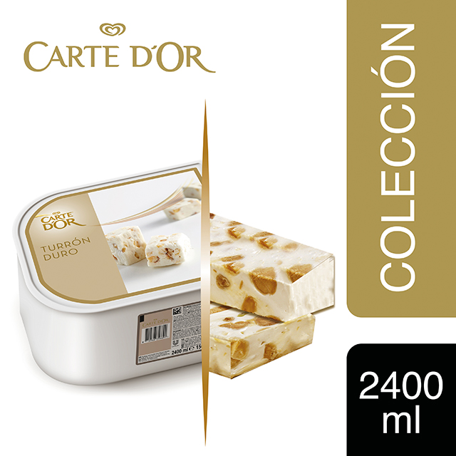 Helado de Turrón duro Carte d'Or 2,4L - Incluir un buen helado transforma el postre en una experiencia inolvidable. La gama Carte d'Or está diseñada para aportar versatilidad, conveniencia y estructura a tus postres,controlando tu rentabilidad