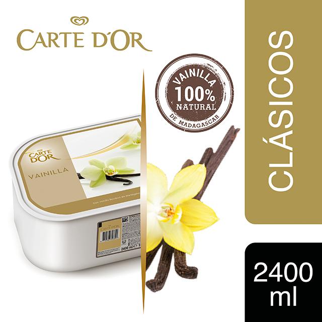 Helado de Vainilla de Madagascar Carte d'Or cubeta 2,4L - Incluir el helado de Vainilla Carte d'Or transforma el postre en una experiencia inolvidable