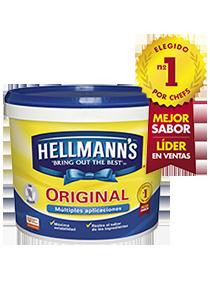 Hellmann's Mayonesa Original 5 L - Hellmann's Original, Nº1 del mercado*: Gran estabilidad y mejor sabor*