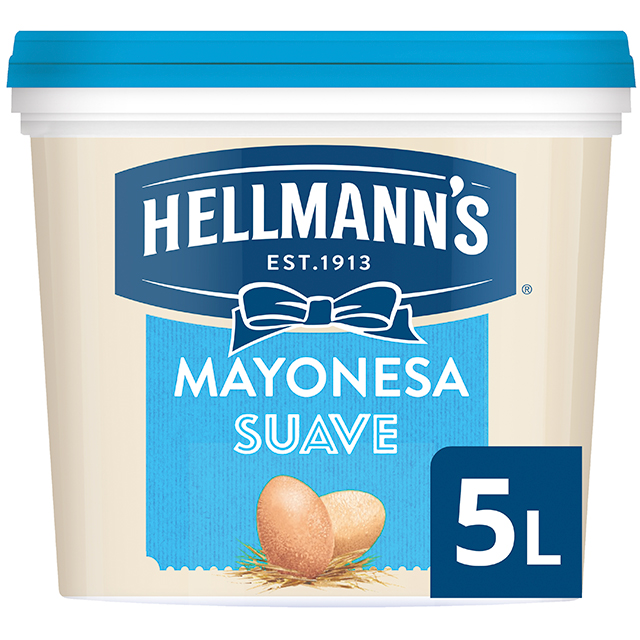 Hellmann's Suave mayonesa cubo 5L