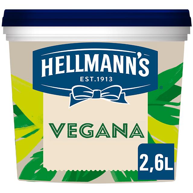 Hellmann's Vegana mayonesa sin gluten cubo 2,6L - Hellmann's vegana, con todo el sabor y textura Hellmann's