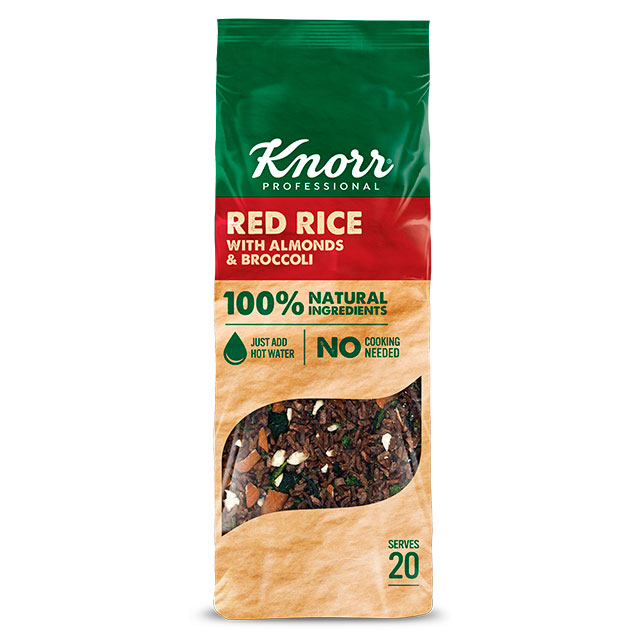 Knorr Arroz Rojo 550g - Súper Ensaladas Knorr, mezclas con ingredientes 100% naturales, ideales para crear platos nutritivos y atractivos