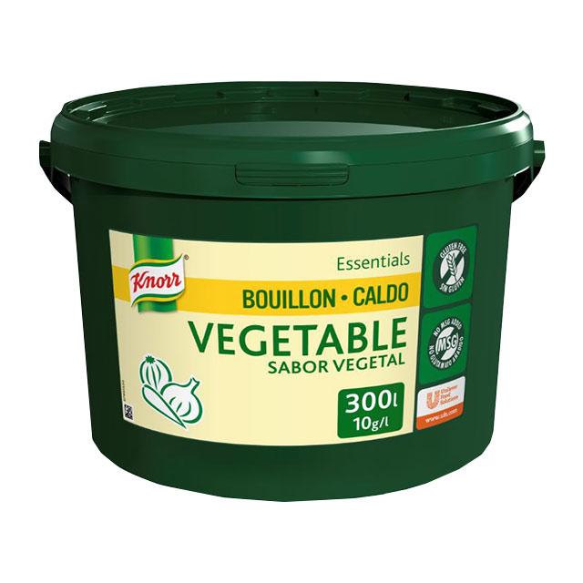 Knorr Caldo Base Clean Label Vegetal 3KG Sin Gluten - Sin alérgenos declarables** y con etiqueta limpia