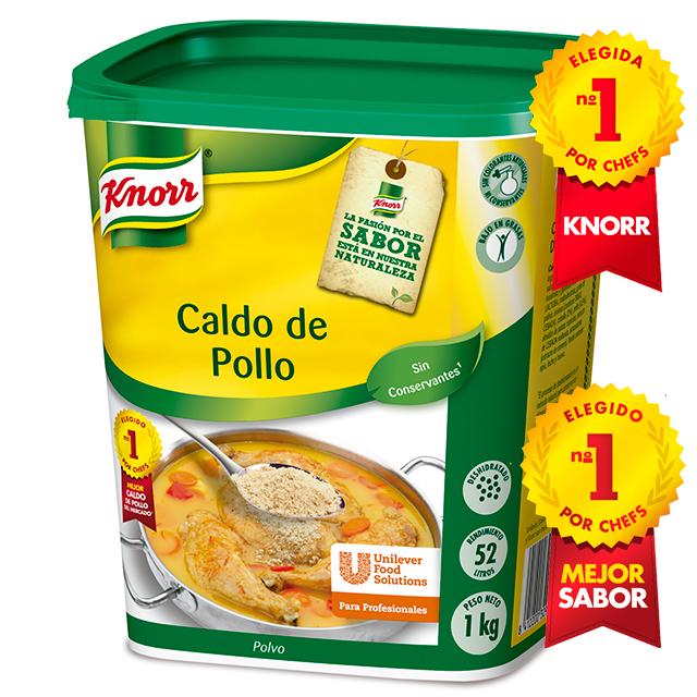 Knorr Caldo de Pollo deshidratado bote 1kg - El Caldo de Pollo Knorr realza tus platos con el mejor sabor a pollo del mercado*.