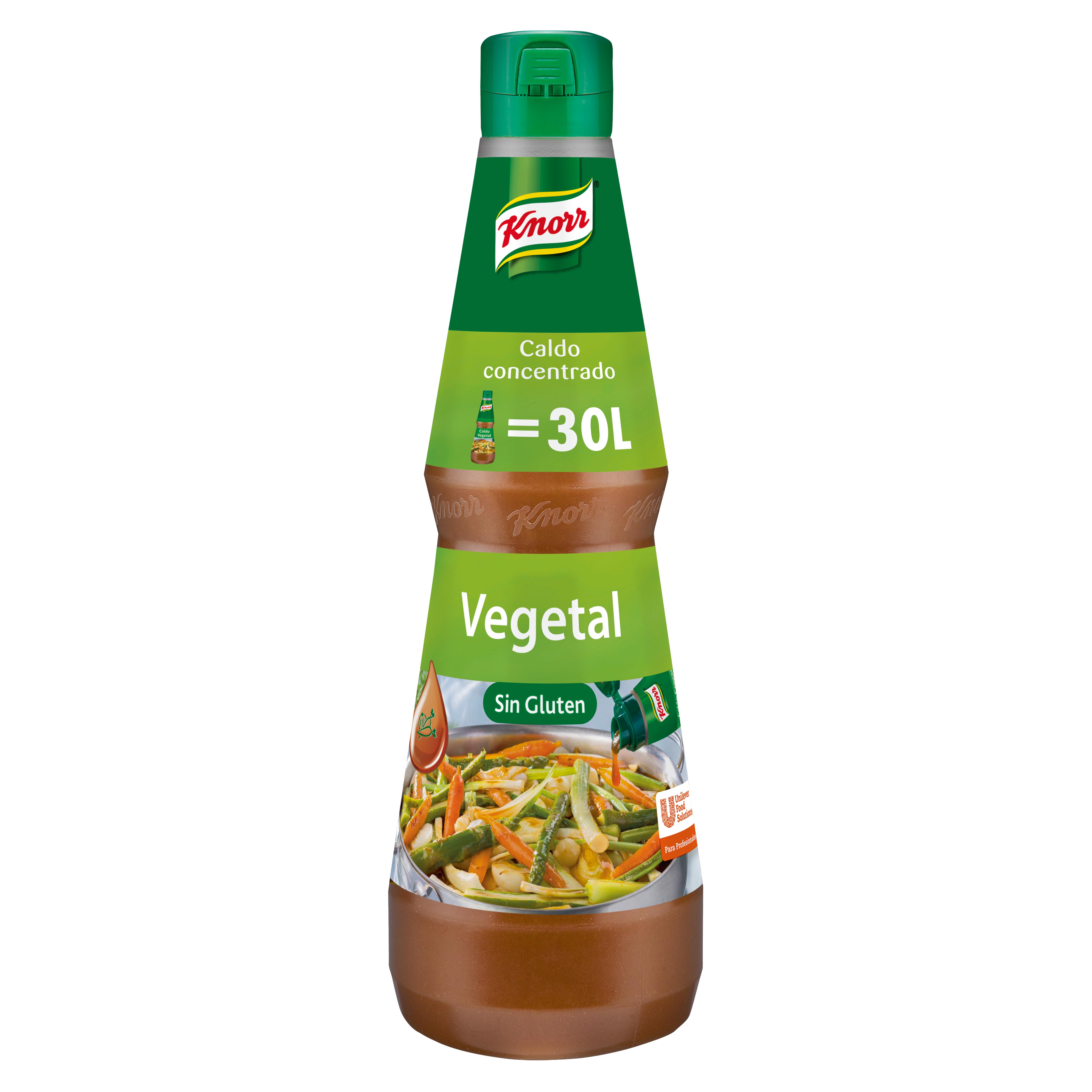 Knorr Caldo líquido concentrado Vegetal Sin Gluten botella 1L