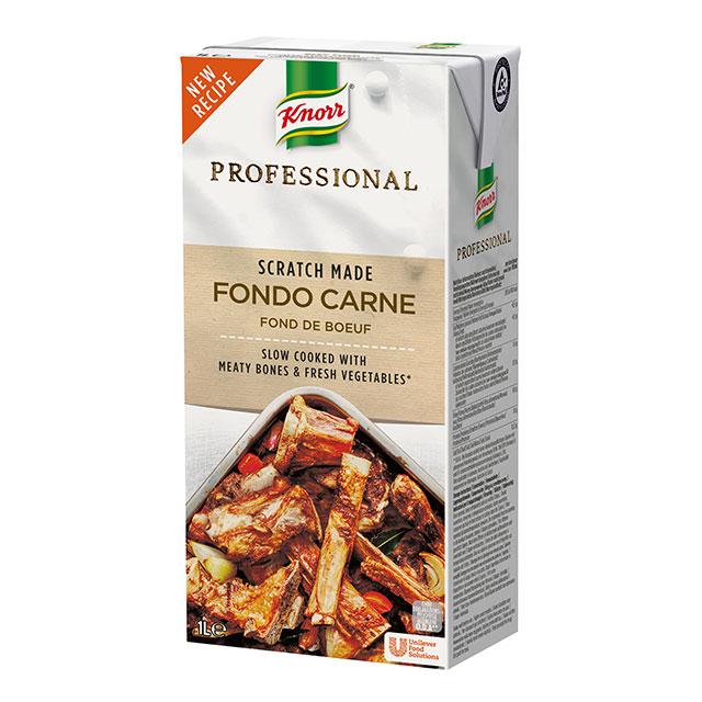 Knorr Profesional Fondo de Carne Líquido Sin Gluten Brik 1L