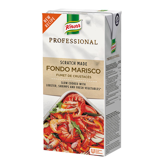 Knorr Profesional Fondo de Marisco Líquido Sin Gluten Brik 1L
