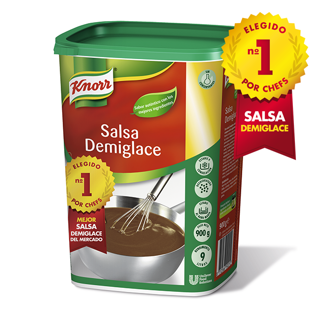 Knorr Salsa Demiglace deshidratada para carnes bote 900g