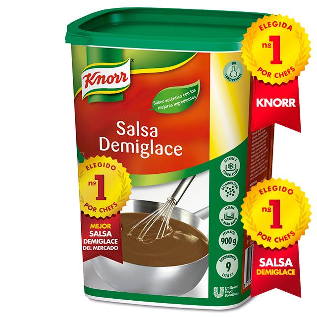 Knorr Salsa Demiglace deshidratada para carnes bote 900g - Demiglace Knorr, elegida la mejor salsa Demiglace del mercado*. Porque la mejor salsa empieza con la mejor base