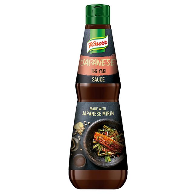 Knorr Salsa Teriyaki botella 1L - Explora nuevas cocinas y sabores con la Salsa Teriyaki Knorr