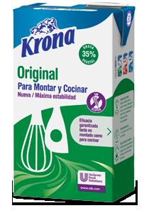Krona Original derivado lácteo para montar y cocinar Sin gluten brik 1L