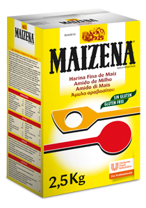 Maizena Harina Fina de Maiz Espesante Sin Gluten Caja 2,5 Kg