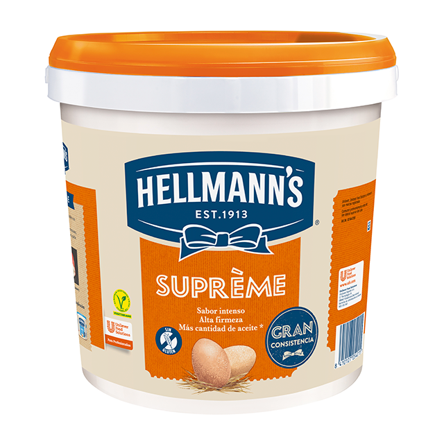 Mayonesa Hellmann's Gran Consistencia cubo 9L Sin gluten