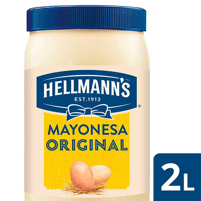Mayonesa Hellmann's Original bote 2L Sin gluten - Hellmann's Original, Nº1 Mejor Sabor: máxima estabilidad en cualquier aplicación tanto en frío como en caliente.