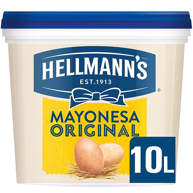 Mayonesa Hellmann's Original cubo 10L Sin gluten - Hellmann's Original, Nº1 Mejor Sabor: máxima estabilidad en cualquier aplicación tanto en frío como en caliente.