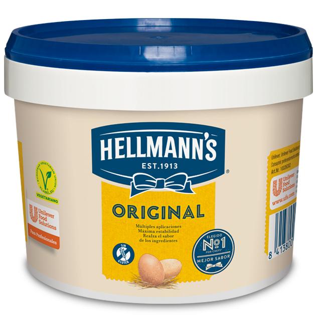 Mayonesa Hellmann's Original cubo 3L Sin gluten