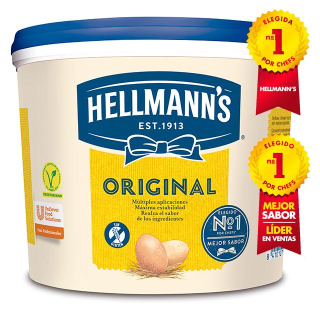 Mayonesa Hellmann's Original cubo 5L Sin gluten