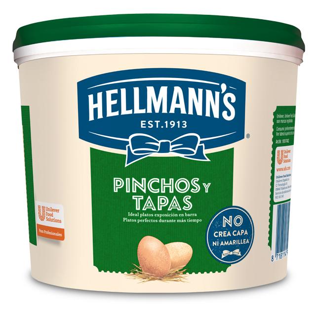 Mayonesa Hellmann's Pinchos y Tapas cubo 5L - Hellmann's Pinchos y Tapas: mantiene tus platos atractivos más tiempo sin que amarilleen