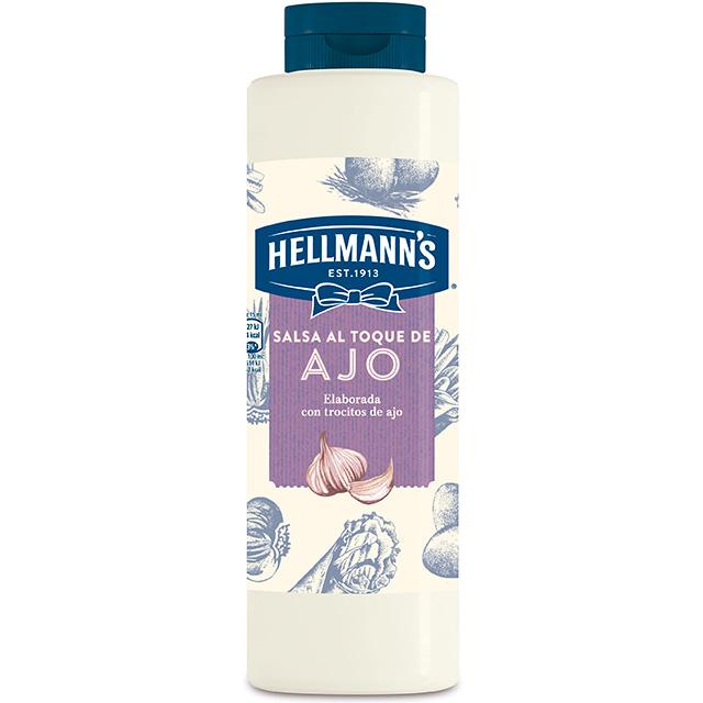 Salsa al toque de Ajo Hellmann's botella 850ML