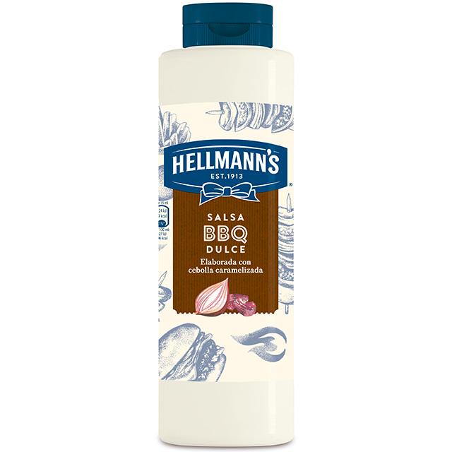 Salsa Barbacoa Dulce Hellmann's botella 792ML Sin Gluten - Salsas Especiales Hellmann's. Nuevos y sorprendentes sabores en un práctico envase.