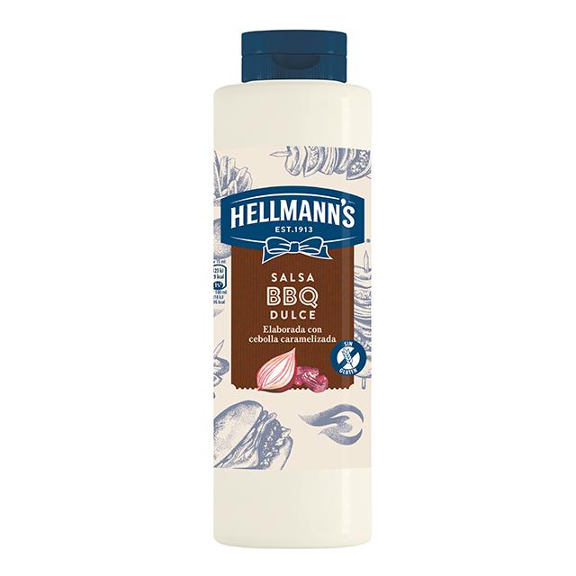 Salsa Barbacoa Dulce Hellmann's botella 792ML Sin Gluten - Salsas Especiales Hellmann's. Nuevos sabores en un práctico envase