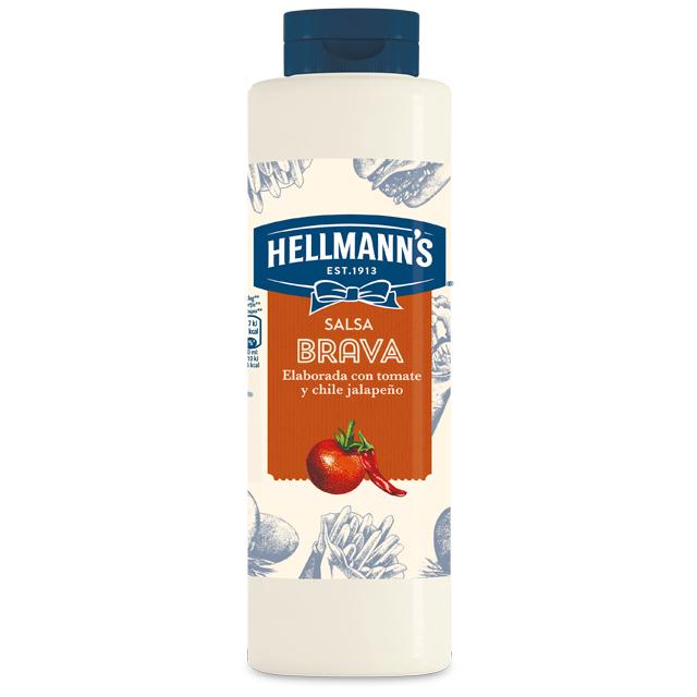 Salsa Brava Hellmann's botella 850ML - Salsas Especiales Hellmann's. Nuevos y sorprendentes sabores en un práctico envase.