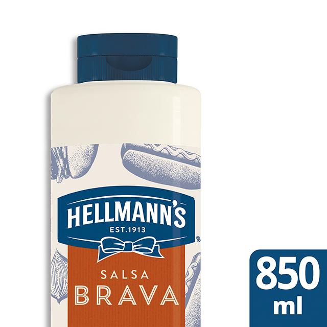 Salsa Brava Hellmann's botella 850ML Sin Gluten - Salsas Especiales Hellmann's. Nuevos sabores en un práctico envase