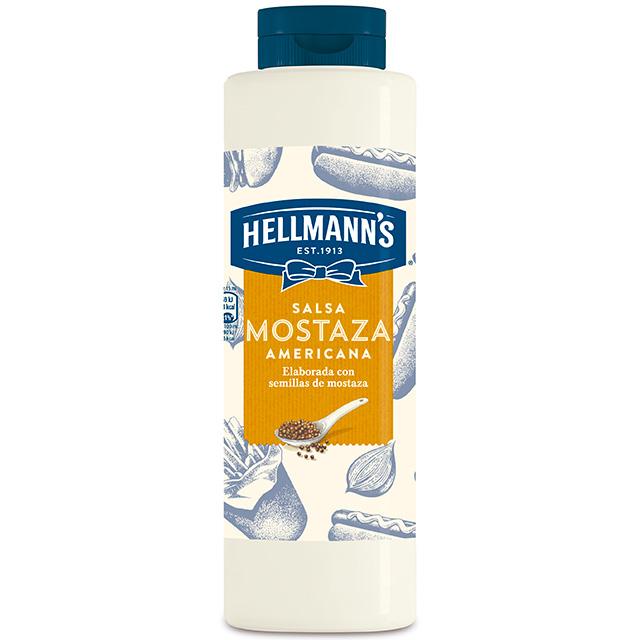 Salsa de Mostaza Americana Hellmann's botella 850ML - Salsas Especiales Hellmann's. Nuevos y sorprendentes sabores en un práctico envase.