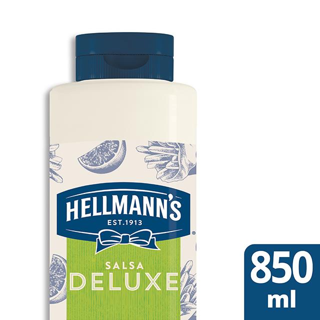 Salsa Deluxe Hellmann's botella 850ML - Salsas Especiales Hellmann's. Nuevos sabores en un práctico envase