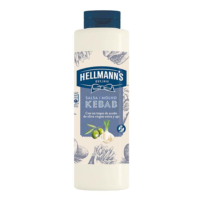 Salsa Kebab Hellmann's botella 850ML Sin Gluten